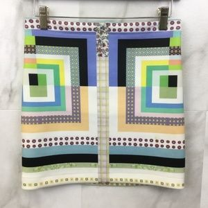 Clover Canyon Square Patterned Skirt (M)